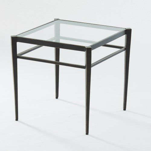 Small Classic Bronze Metal Square Side Table Traditional Minimalist Iron Glass With Images Small Side Table Square Side Table Side Table