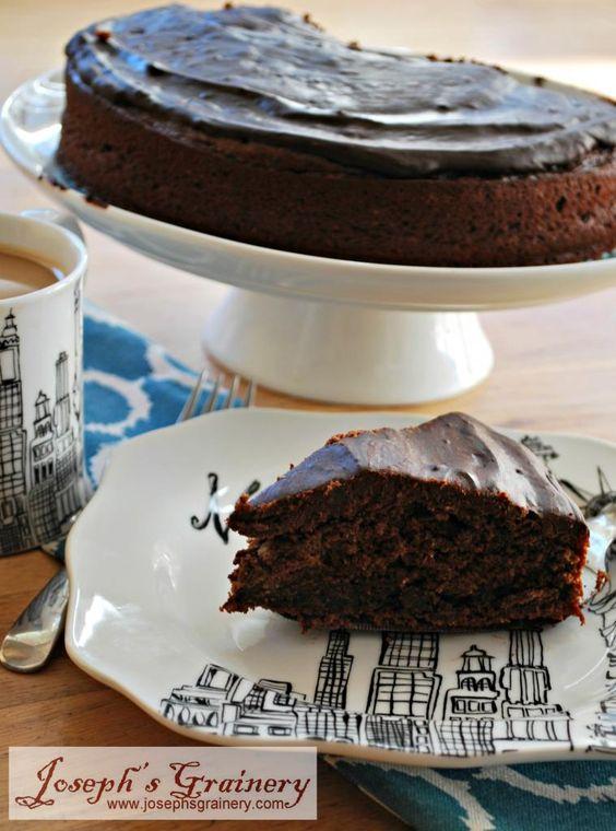 Gluten Free Chocolate Cake made with Joseph's Grainery Garbanzo Bean ...
