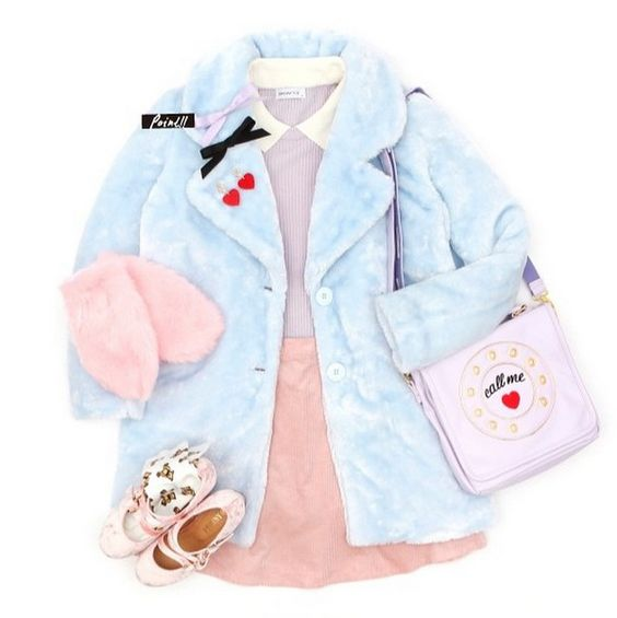 Wego pastel winter coat and gloves