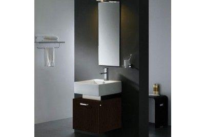 Vigo VG09011104K 18'' Solid Wood Single Bahroom Vanity in Wenge Finish
