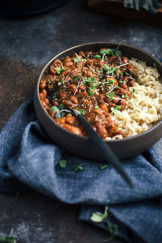 This Smoky Vegetarian Red Beans and Rice recipe is loaded with up melt-in-your-mouth vegetables.