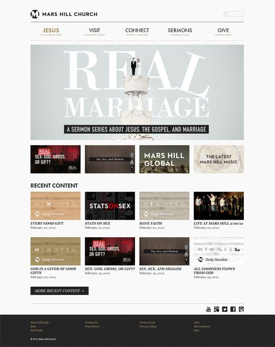 church website design of marshillcom for mars hill church seattle wa