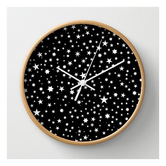 All Stars Wall Clock (105 BRL) ❤ liked on Polyvore