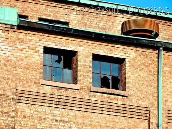 Abandoned: Photograph of broken windows on old by JantasticPhotos
