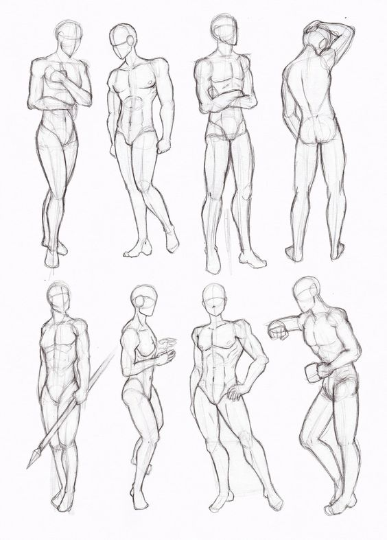 male standing poses drawing - Cerca con Google