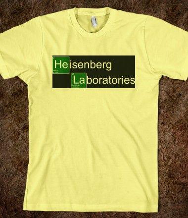Heisenberg Breaking Bad T Shirt - Heisenberg Laboratories  #heisenberg,#breaking bad,#heisenberg shirt,#breaking bad shirt,#chemistry