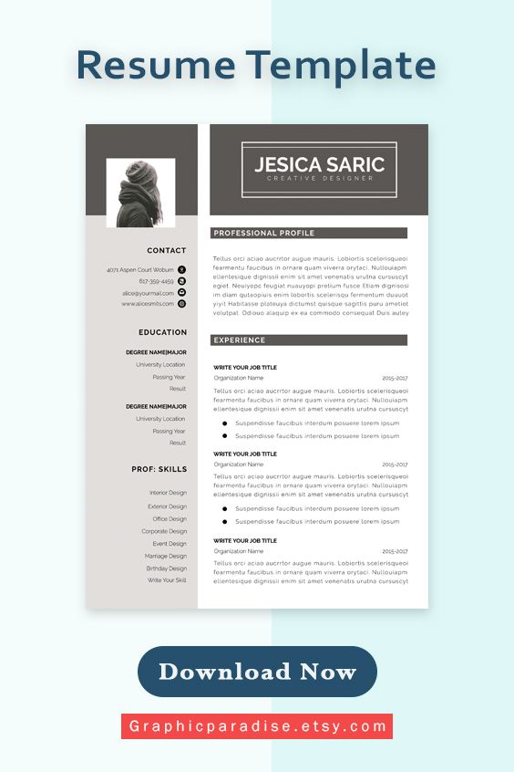 Resume Template Professional Resume Template Instant Etsy In 2020 Microsoft Word Resume Template Resume Template Resume Template Word