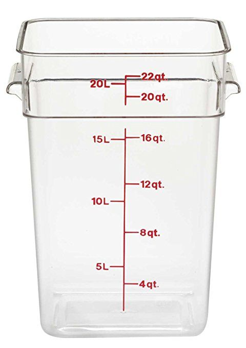 Camwear Polycarbonate Square Food Storage Container 22 Quart Review Food Storage Food Storage Boxes Cambro