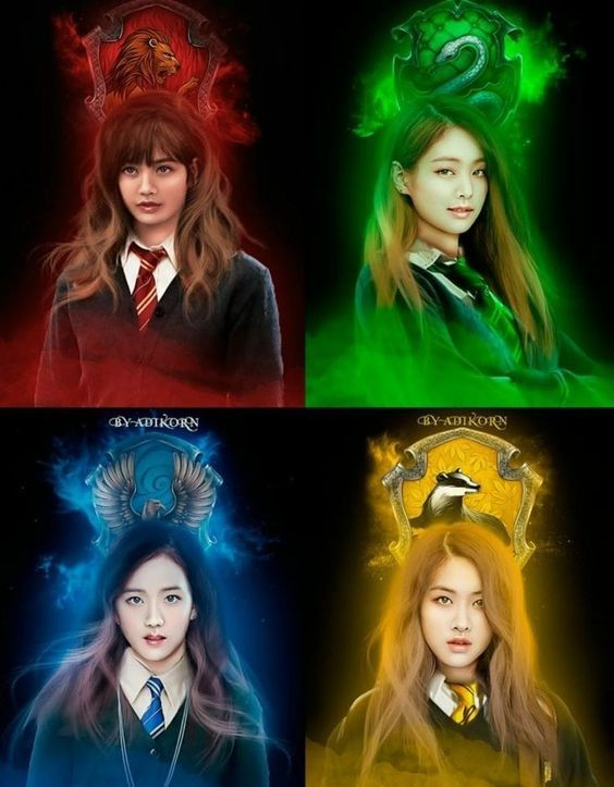 Hogwarts Style Movies And Tv Series Art Blackpink Blackpink Rose Black Pink Kpop