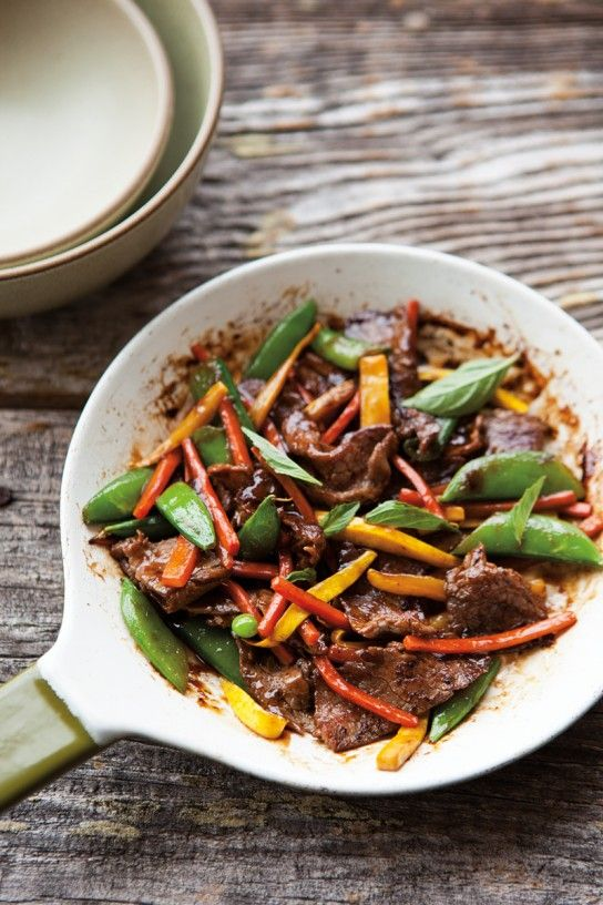 Beef & Basil Stir-Fry with Summer Vegetables