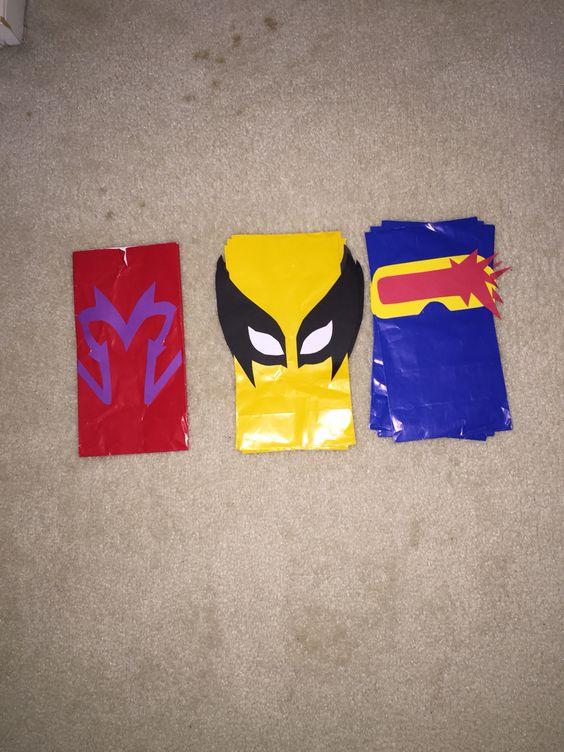 X-Men party favor bags - Magneto, Wolverine, & Cyclops: