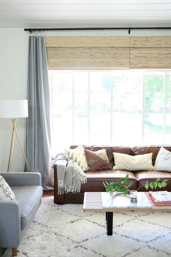 Brown Leather Couch Decor-looking At Ways To Lighten Up A