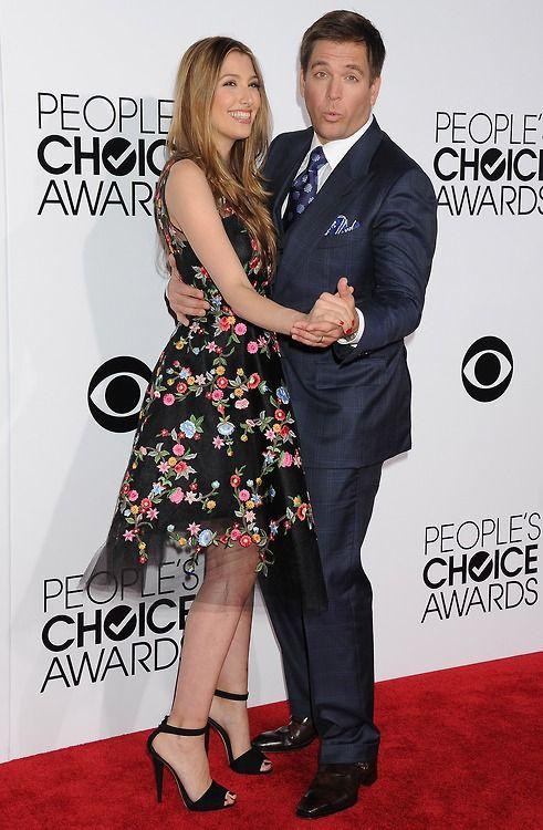 Michael s manželkou Bojanou Jankovic během People's Choice Awards