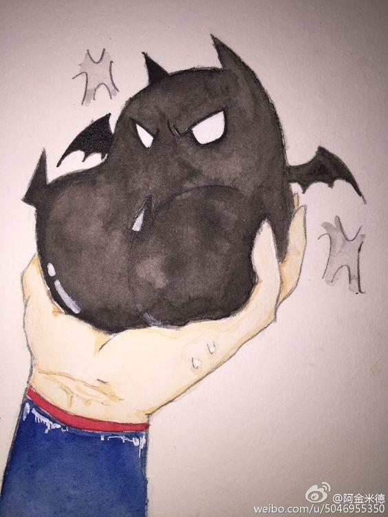 #superbat##超蝙# 大概是昨天那个脑洞的后... 来自阿金米徳 - 微博