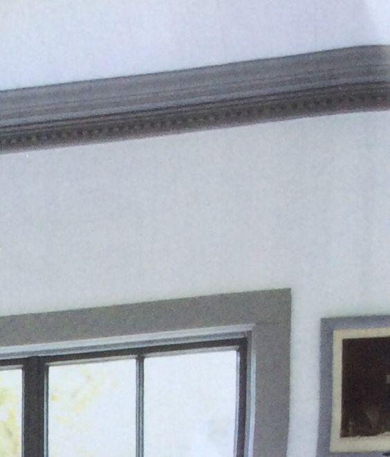 Dark grey painted trim