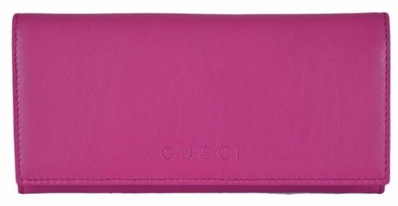 New Gucci Women's 305282 PINK Leather W/Coin Pocket Continental Wallet #Gucci