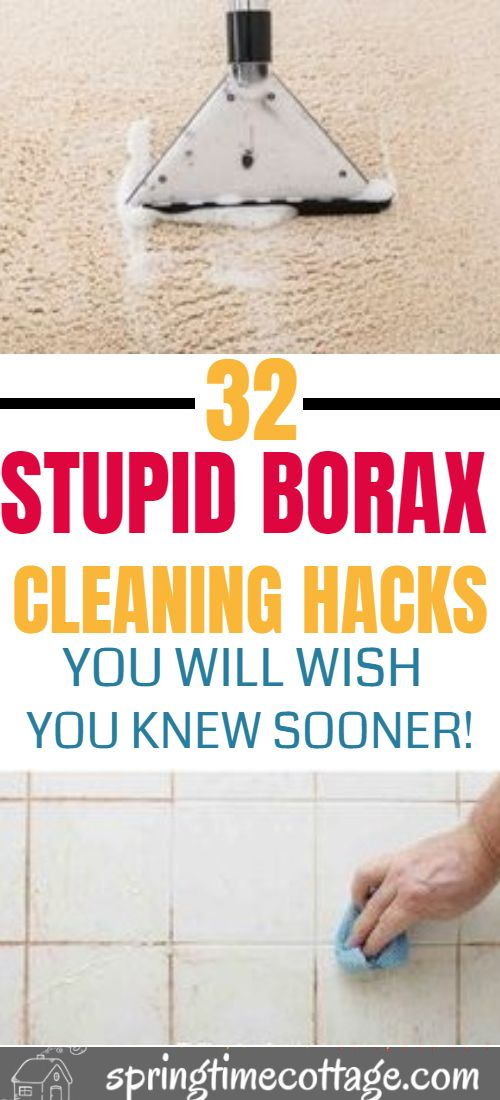 Did you know that borax was an excellent cleaner which kills germs, destroys odors, get rid of stains and the best part is that it is easy to use. Here are some borax cleaning hacks that you know right now! #borax #cleaning #boraxcleaninghacks #cleaninghacks