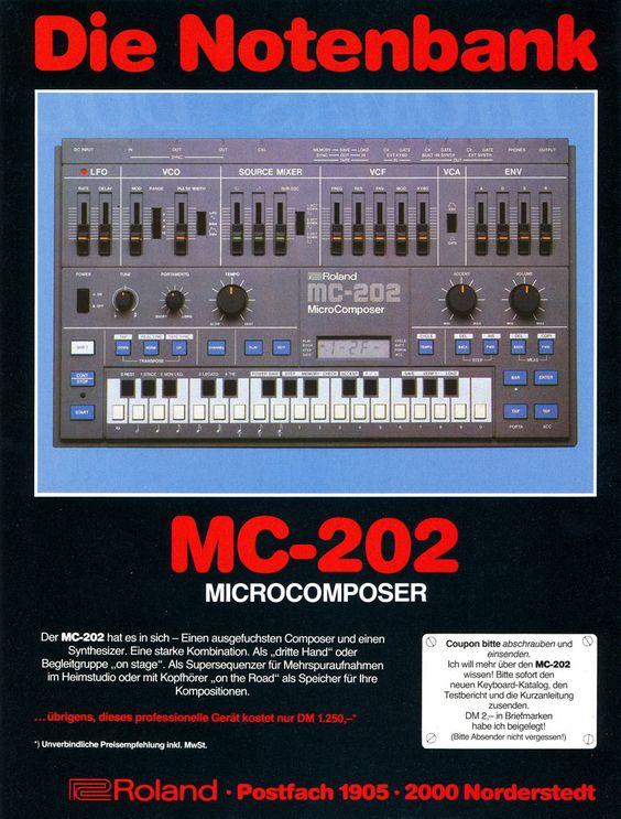 Roland MC-202 Anzeige 2 1984