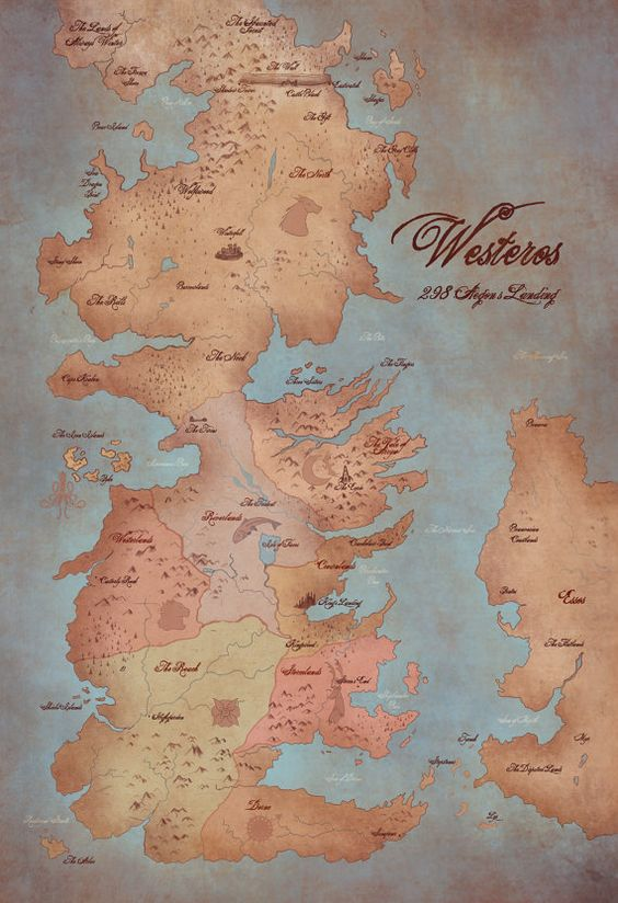 Map of Westeros A Song of Ice and Fire/ Game by AwkwardAffections