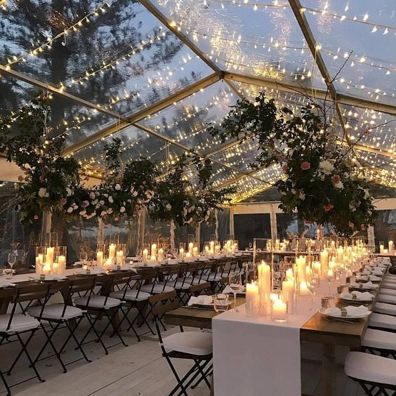 Clear tents for the win, add some string lights and youâ??re golden â?¨â?¨â?¨Â #lovelyinspiration! . . . @theeventsco_ @rose_apple_flowersâ?¦