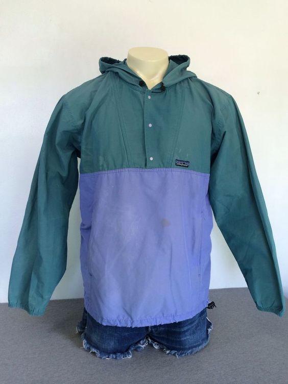 Vtg Patagonia 98 Men S Anorak Guide Jacket Hooded