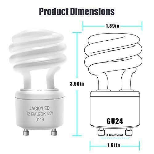 Jackyled Gu24 Cfl Light Bulbs 4 Pack Light Bulbs Fluorescent Light Bulb Bulb
