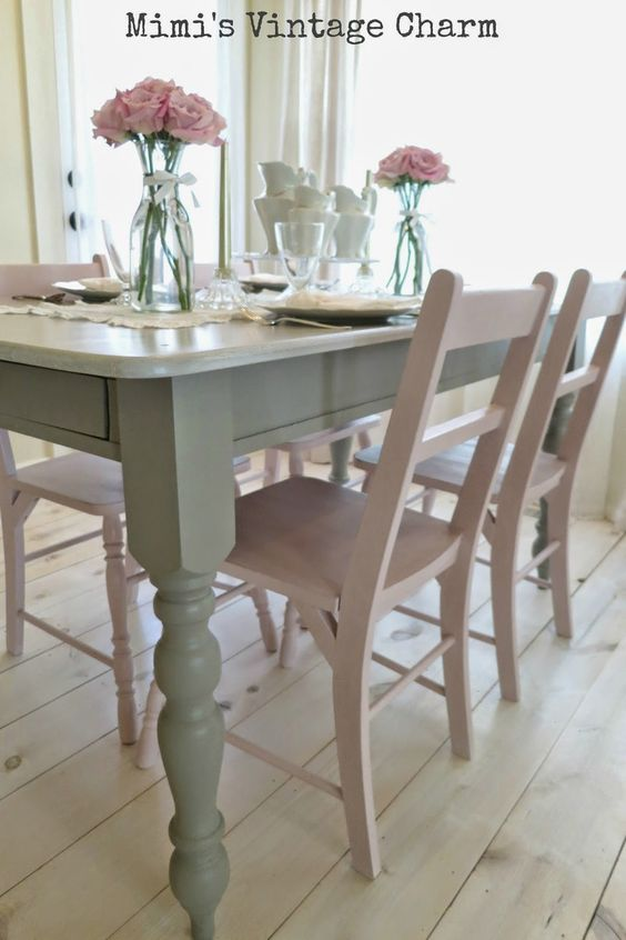 French linens dining room chairs and dining rooms on for Dining table color ideas