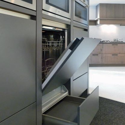 Vaatwasser op hoogte magnetron oven er boven keuken pinterest kitchens and ea - Hoe een keuken te verlichten ...
