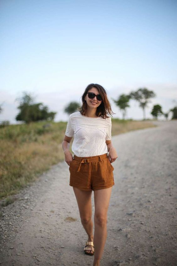 idee tenue safari tanzanie short the brunette blog mode paris 3