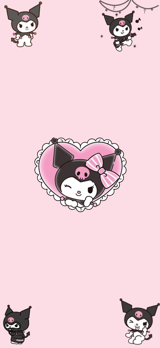 Kuromi Goth Kawaii Hello Kitty Art Goth Wallpaper Kawaii Goth
