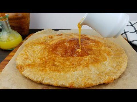 خبز يمني مع العسل يسمى معطف أو قمط زي الفطير المشلتت الفلاحي المصري Honey Soaked Layered Bread Youtube Food Yemeni Food Kitchen Recipes