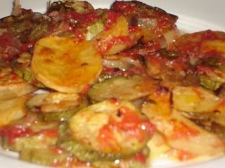 Greek Briam- eggplant, zucchini, peppers and potato slow baked in fresh tomato sauce. - Eqypt