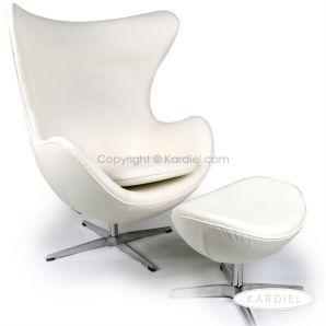 Egg Chair Reproduction   Modern Ball Chairs Ottoman  White  :