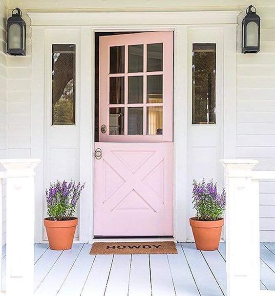 Pink farm door