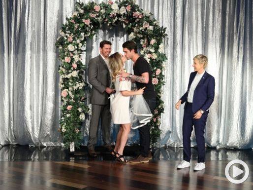 Watch Kaley Cuoco get married on The Ellen Show.