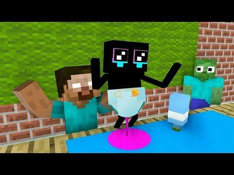 Monster School Enderman Baby Challenge Minecraft Animation Youtube Monster School Minecraft School Monster