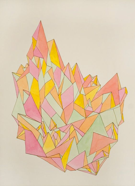 January 2, 2012 (Luminous) - drawing/watercolor painting from Kristy Modarelli from the Aldas Project
