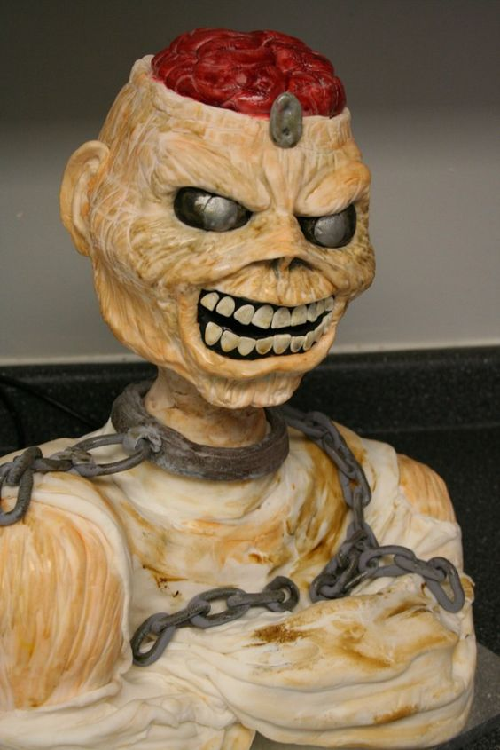A zombie cake would be a big win in our house. Creepy Cakes