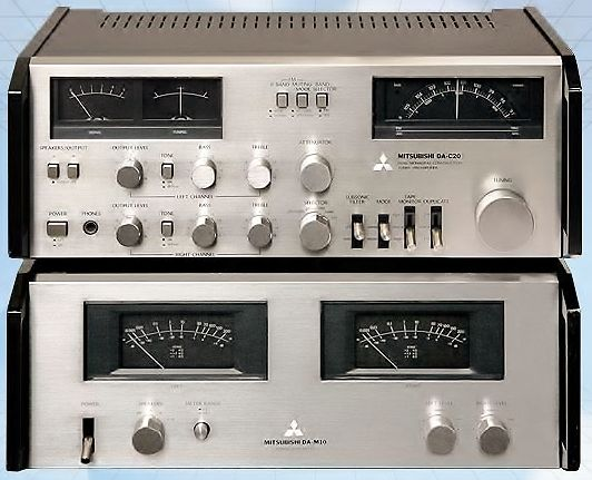 Mitsubishi Da C20 Tuner Pre Amp Amp Da M10 Power Amp Audio
