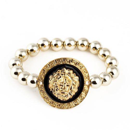 chapado en color dorado, pulsera, bracelet