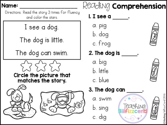 FREE Reading Comprehension For Beginning Readers (Multiple Choice ...