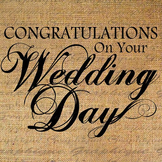 Congratulations WEDDING DAY Text Digital Collage by Graphique – Wedding Day Quotes for Cards