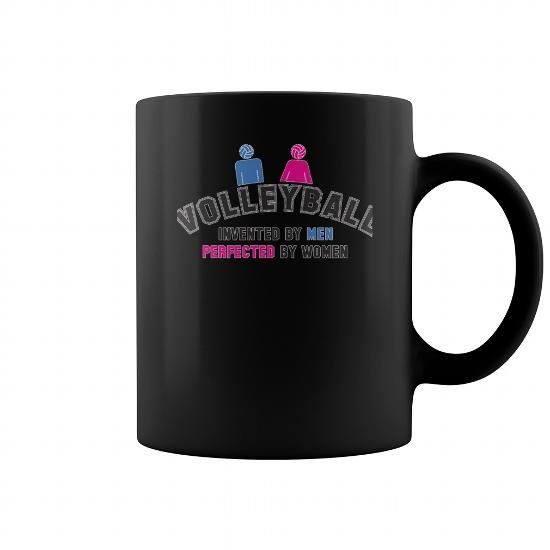 Volleyball Invented By Men Perfected Women Tshirt Mug Cool Officevolleyball
