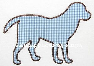 Can think of so many things to applique this on for gifts for all the Lab lovers in my life.