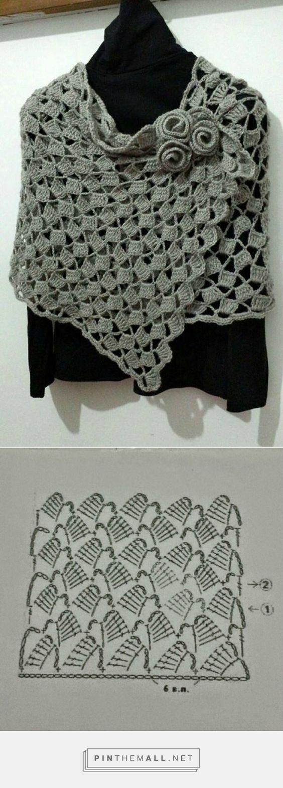 Crochet un châle droit - la Grenouille tricote - created via http://pinthemall.net