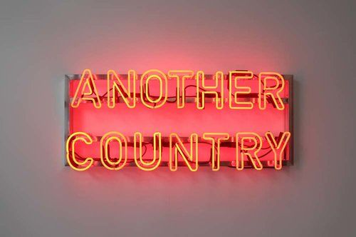 Another Country After James Baldwin 2016 Glenn Ligon Glenn Ligon Neon Artwork