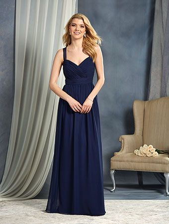 alfred angelo long bridesmaid dresses