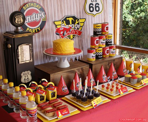 Race Cars Birthday Party Ideas   Photo 6 of 32   Catch My Party