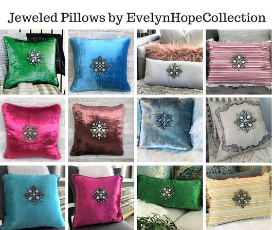 Jeweled Pillows by EvelynHopeCollection