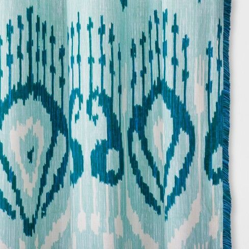 Brighten Up Your Bathroom Space In Hues Of Blue With This Ikat